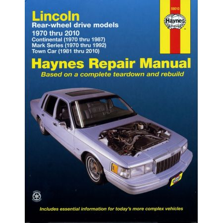 Continental Mark Series Revue Technique Haynes LINCOLN Anglais