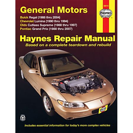 Regal Lumina Cutlass Revue technique Haynes GM PONTIAC Anglais
