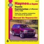 Toyota Camionetas y 4-Runner Manual de Reparacia_n: 79 al 95 Todos los modelos compactos con motores de gasol