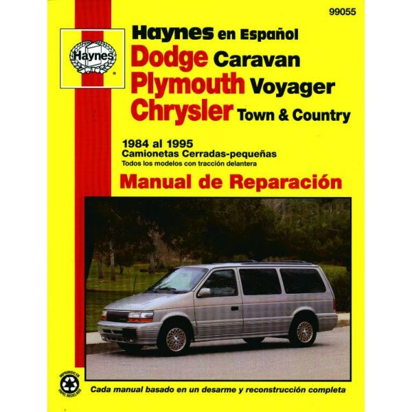 dodge caravan plymouth voyager chrysler town and country rth099055 revue technique haynes espagnol. Black Bedroom Furniture Sets. Home Design Ideas