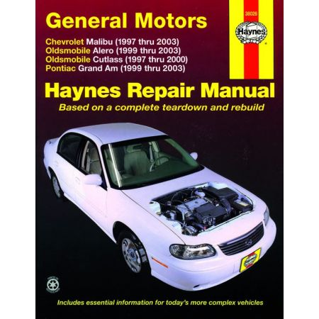 Malibu 97-03 - Alero 99-03 Cutlass 97-00 Revue technique Haynes GM Anglais