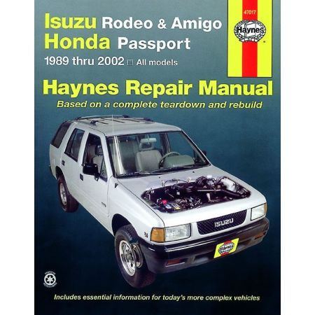 Rodeo Amigo Passport Revue Technique Haynes ISUZU HONDA Anglais