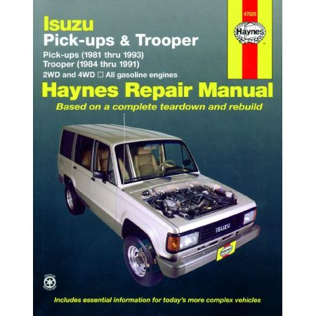 Trooper 81-93 Revue Technique Haynes ISUZU Anglais