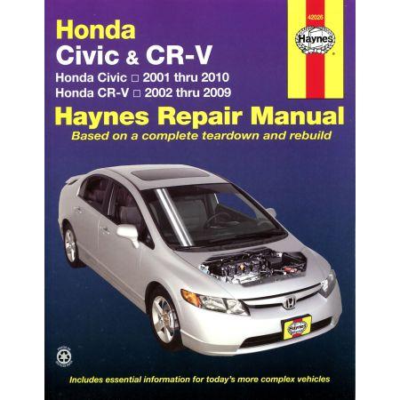 Civic 01-10 - CR-V 02-09 Revue technique Haynes HONDA Anglais