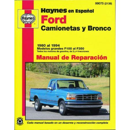 Bronco F100 al F350 80-94 Revue Technique Haynes FORD Espagnol