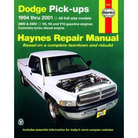 Pick-ups 1500 2500 3500 94-01 Revue technique Haynes DODGE Anglais