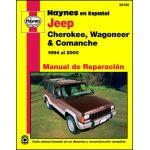 Jeep Cherokee Wagoneer y Comanche Manual de Reparacia_n: 84 al 00 No incluye informacia_n para Grand Wagoneer