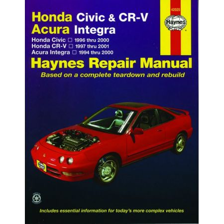 Civic 96-00 CR-V Integra Revue technique Haynes HONDA Anglais