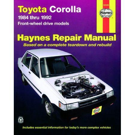 Corolla 84-92 Revue Technique Haynes TOYOTA Anglais