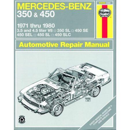 350 450 SL 71-80 Revue Technique Haynes MERCEDES-BENZ Anglais