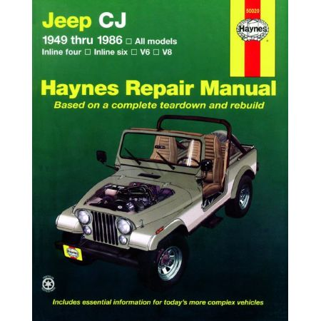 CJ Scrambler Renegade. Laredo Golden Eagle 49-86 Revue Technique Haynes JEEP Anglais