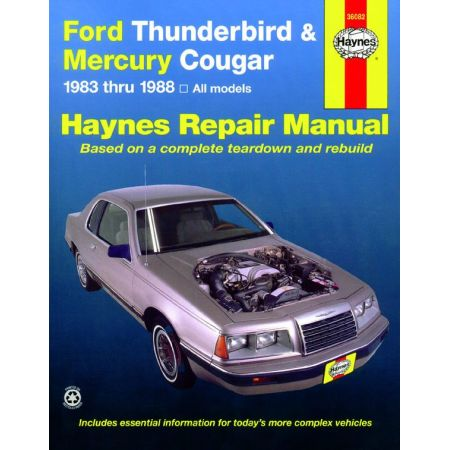 Thunderbird - Cougar 83-88 Revue technique Haynes FORD MERCURY Anglais