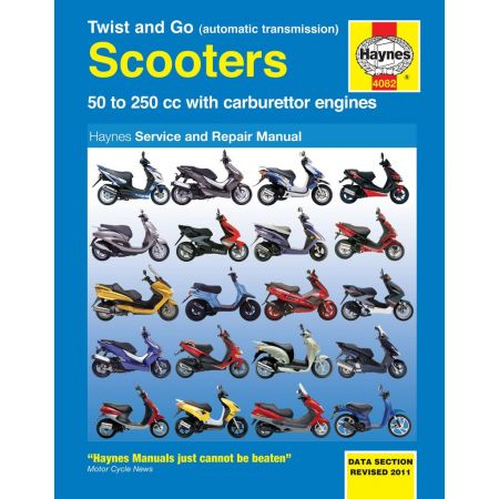 Twist and Go automatic transmission Scooters Revue HAYNES