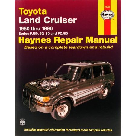Land Cruiser FJ60 6280-96 Revue Technique Haynes TOYOTA Anglais