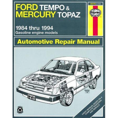Tempo - Topaz 84-94 Revue technique Haynes FORD MERCURY Anglais