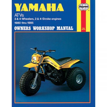 ATVs Repair Manual covering 3 and 4 wheelers 2 and 4 stroke engines 80-85. Revue technique Haynes YAMAHA Anglais
