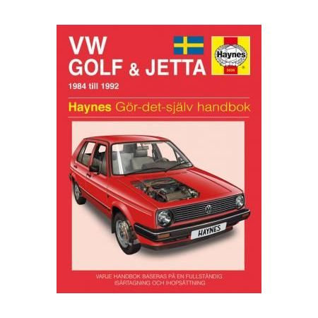 VW Golf Jetta II 84-92 Swedish Revue technique Haynes