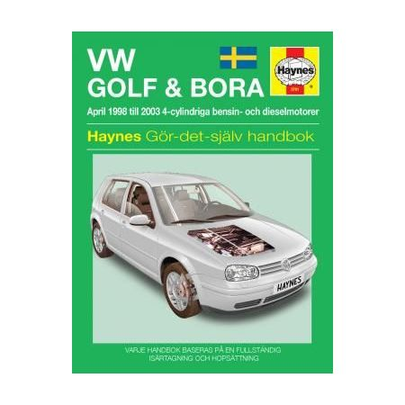VW Golf IV Bora 98-03 Swedish Revue technique Haynes
