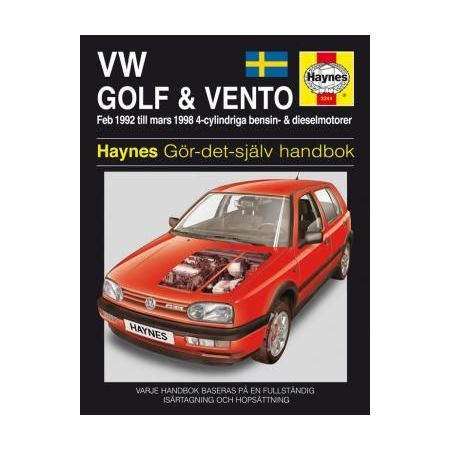 VW Golf III Vento 92-98 Swedish Revue technique Haynes