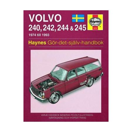 Volvo 240 242 244 245 74-93 svenske utgayva Swedish Revue technique Haynes