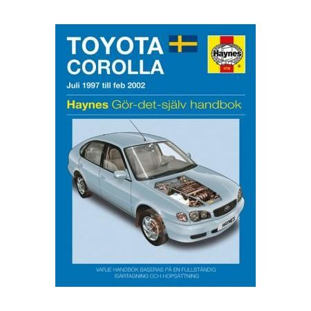 Toyota Corolla Juli 97-Feb 02 Swedish Revue technique Haynes