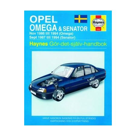 Opel Omega Senator 86-94 Swedish Revue technique Haynes