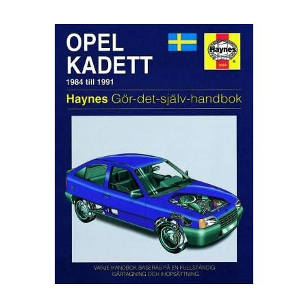 Opel Kadett 84-91 Swedish Revue technique Haynes