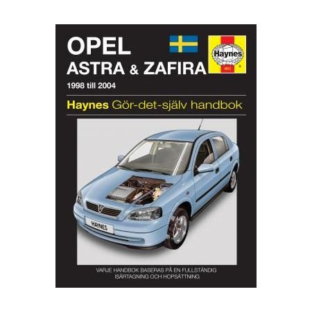 Opel Astra Zafira 98-04 Swedish Revue technique Haynes