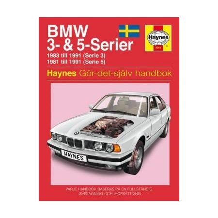 BMW 3- 5-Serien 81-91 Swedish Revue technique Haynes
