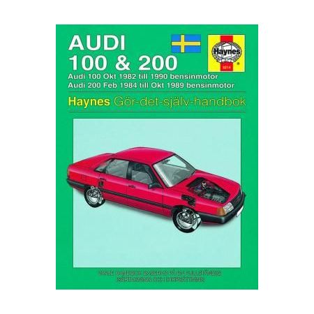 Audi 100 200 82-90 Swedish Revue technique Haynes