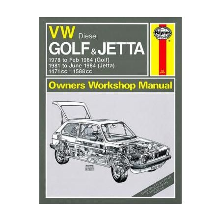 VW Golf Jetta Mk 1 Diesel 78-84 up to A classic reprint Revue technique Haynes Anglais