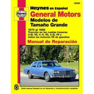 gm general motors full size models 1970 1990 rth099095 revue technique haynes espagnol. Black Bedroom Furniture Sets. Home Design Ideas