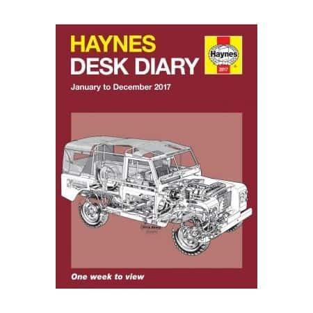 2017 Desk Diary Revue technique Haynes Anglais