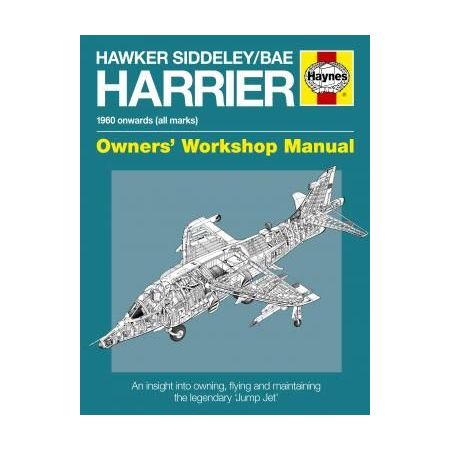 Hawker Siddeley BAEHarrier Manual Paperback Revue technique Haynes Anglais