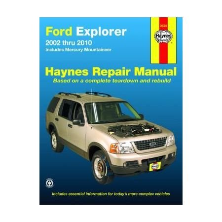 Explorer Mountaineer 02-10 Revue technique Haynes FORD MERCURY Anglais