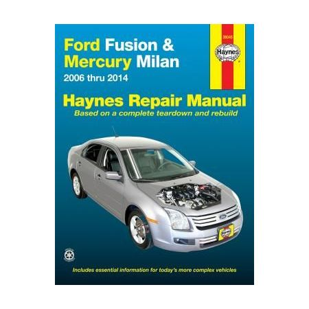 Ford Fusion and Mercury Milan Repair Manual for 06 thru 10 Does not include information specific to hybrid mod