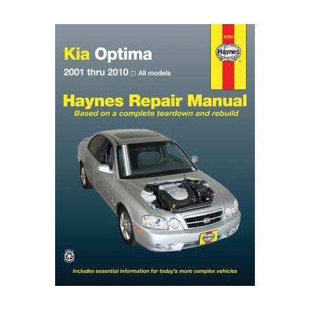Kia Optima Repair Manual covering all Optima models for 01 thru 10 Revue technique Haynes Anglais
