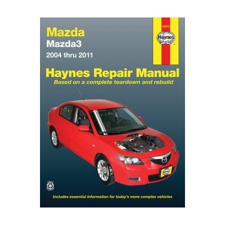 Mazda3 Repair manual for 04 thru 11. Does not include information specific to all-wheel drive or turbocharged