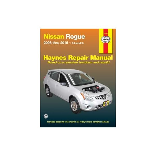 Nissan Rogue Repair Manual from 08-15 Revue technique Haynes Anglais