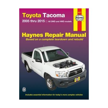 Toyota Tacoma Repair Manual covering all models for 05-15 Revue technique Haynes Anglais