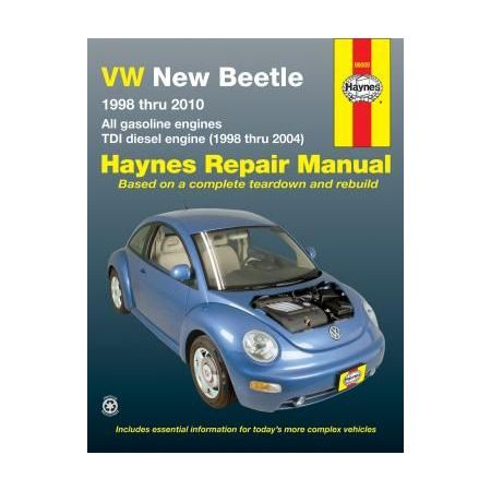 VW New Beetle Repair Manual for 98 thru 10 covering 1.8 and 2.0L gasoline engines and 1.9L TDI diesel engine f