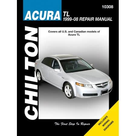 Acura TL Chilton Repair Manual covering all US and Canadian models for 99-08 Revue technique Haynes Anglais