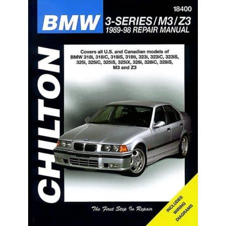 BMW 3 Series M3 Z3 Chilton Repair Manual covering 89-98 Revue technique Haynes Anglais