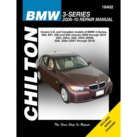 BMW 3-Series Chilton Repair Manual covering 06-10 Does not include information specific to M3 turbocharged or