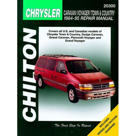 Chrysler Caravan Voyager Town Country for 84-95 all models including all wheel drive Revue technique Haynes Anglais