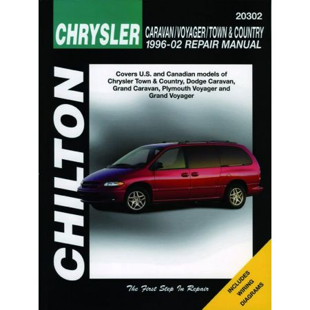 Chrysler Caravan Voyager Town Country Chilton Repair Manual for 96-02 Excludes information specific to all-whe