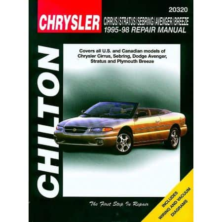 Chrysler Cirrus Stratus Sebring Avenger Breeze Chilton Repair Manual for 95-98 Revue technique Haynes Anglais