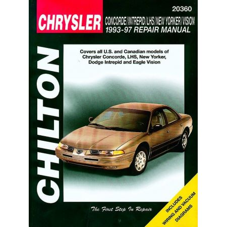 ChryslChrysler Colt Vista Chilton Repair Manual for 90-93er Concorde Intrepid LHS New Yorker Vision Chilton Re