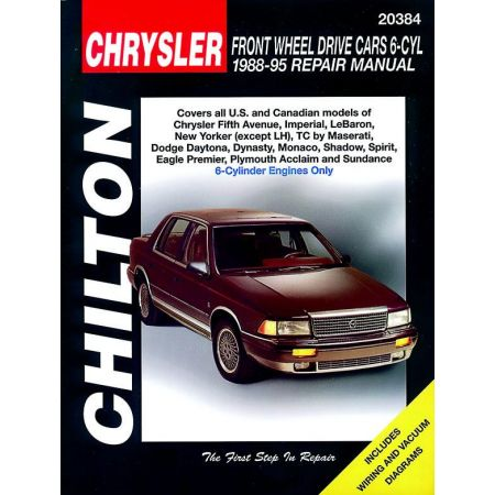 Chrysler Front Wheel Drive Cars with 6 Cylinder Engine Chilton Repair Manual for 88-95 covering Chrysler Fifth