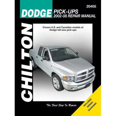 Dodge Pick-Ups Chilton Repair Manual for 02-08 covering 1500 for 02-08 and 2500 3500 for 03-08 with V6 V8 and